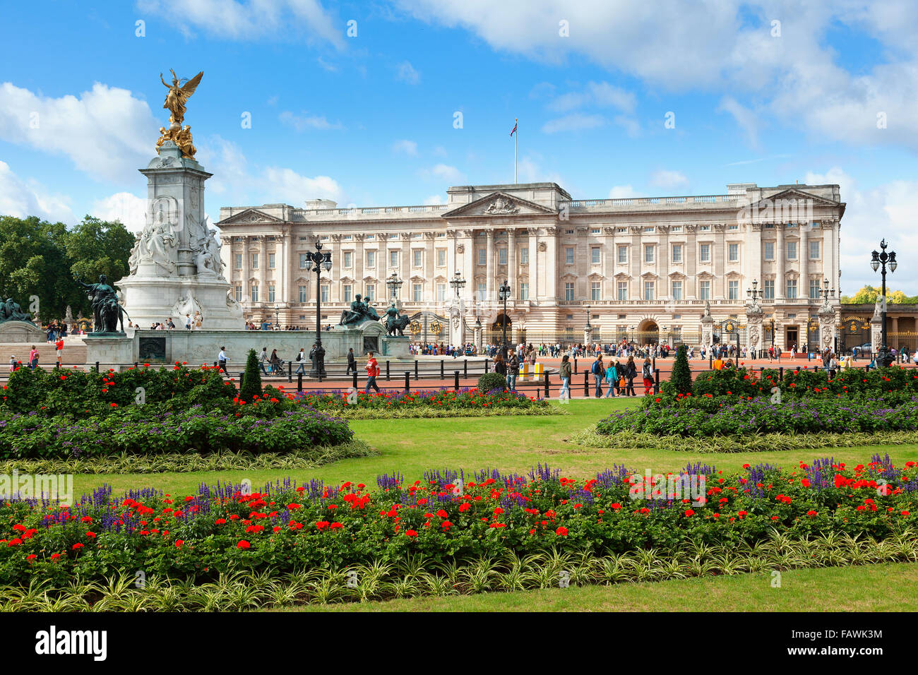 London, Buckingham Palace - Stock Image
