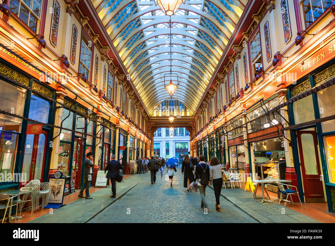 London, Leadenhall Market - Stock Image