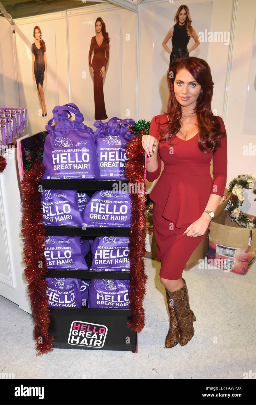 ideal home show at christmas at olympia london featuring amy stock