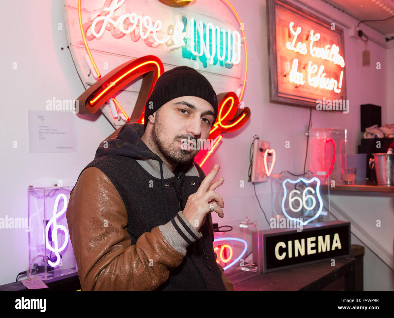Lights of Soho: God's Own Junkyard: My Generation at Lights of Soho in Central London.  Featuring: Adam Deacon - Stock Image