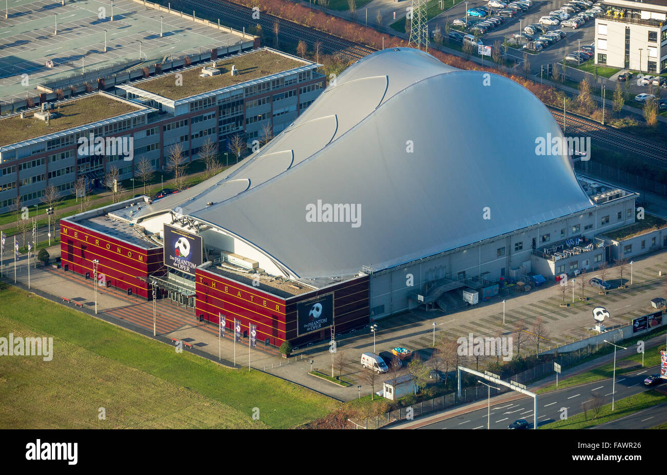 Metronom Theater, theater tent, Centro, Oberhausen, Ruhr district, North Rhine-Westphalia, Germany - Stock Image