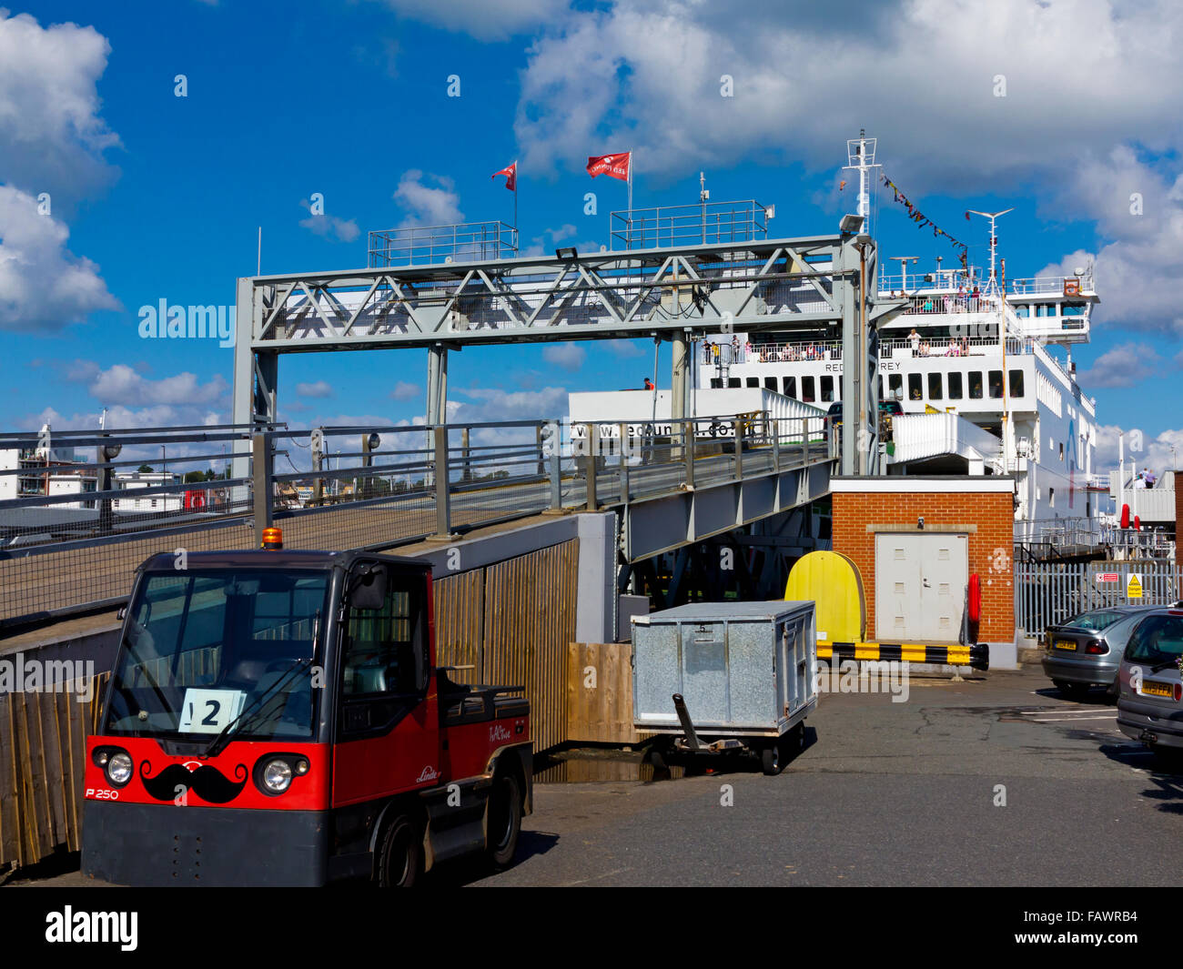 Red Funnel Car Ferry Terminal Loading Ramp At Cowes On The Isle Of