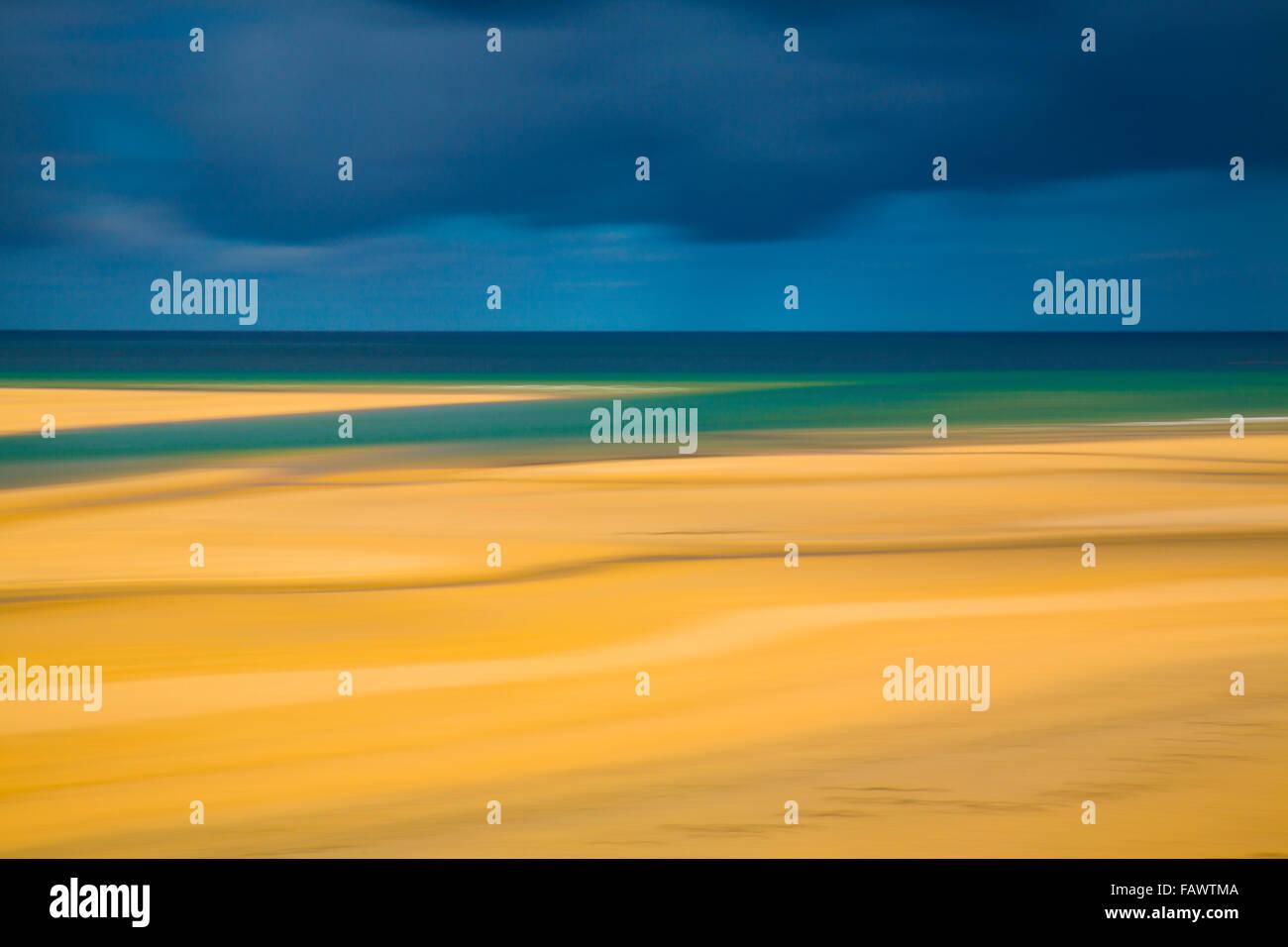 Hayle Estuary; Impression; Cornwall; UK - Stock Image