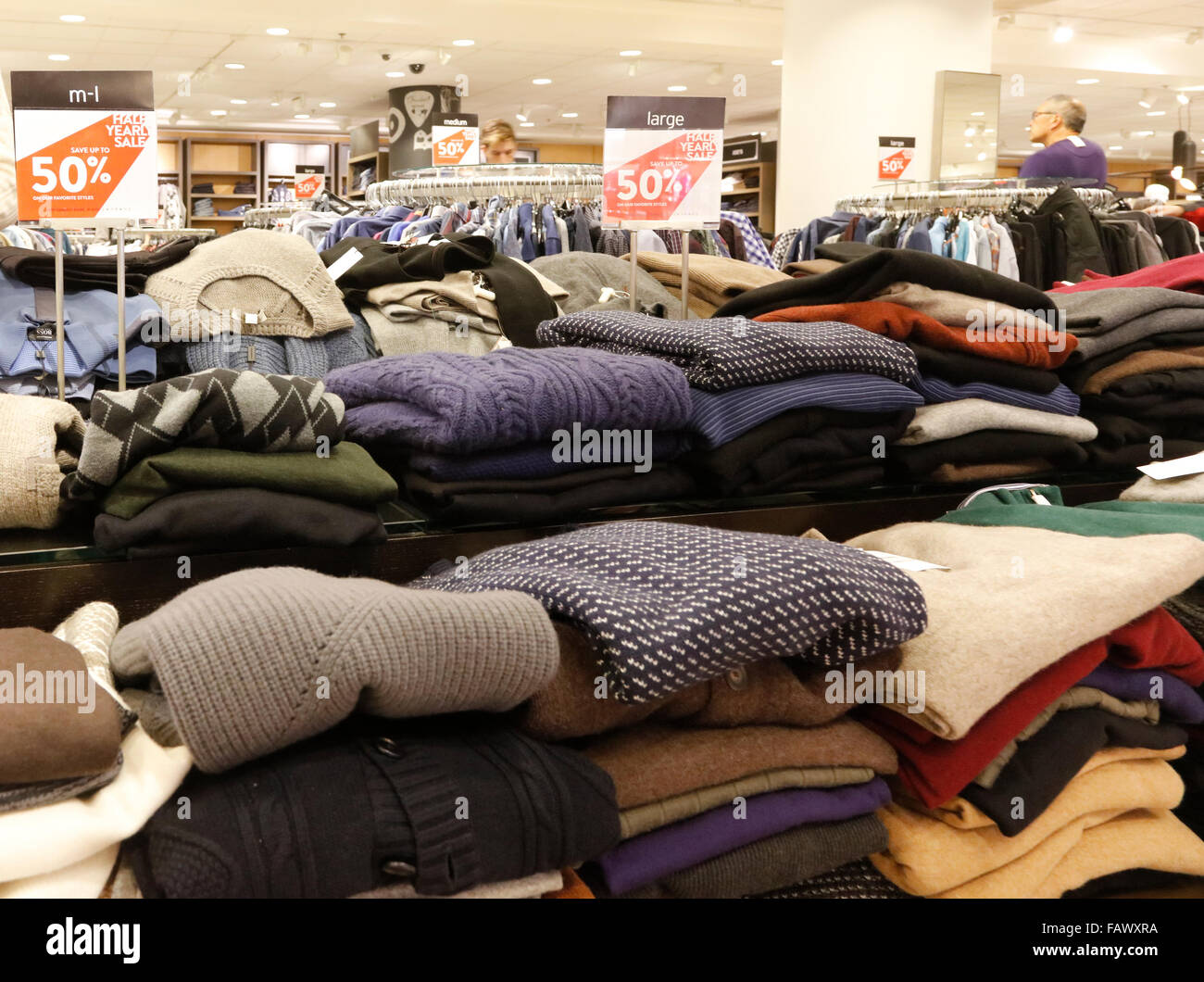 c733f9db sweaters on sale at Nordstrom department store, downtown Seattle ...