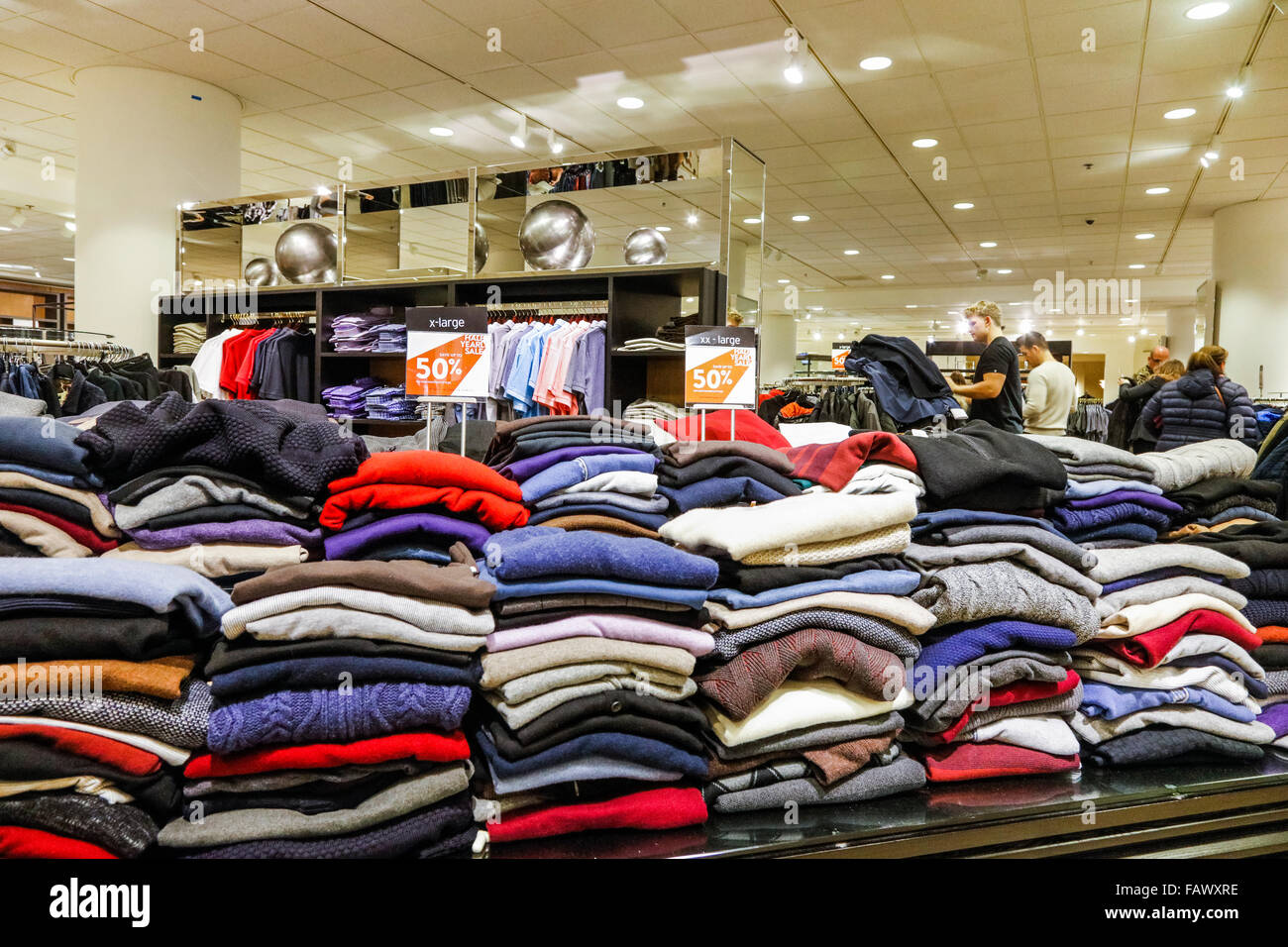 5aec35eb sweaters on sale at Nordstrom department store, downtown Seattle ...