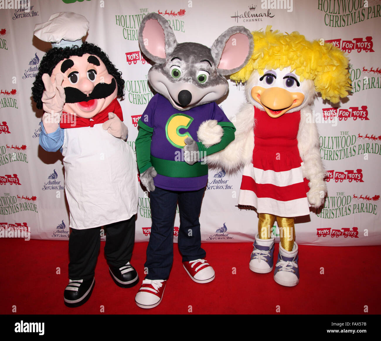 Chuck E Cheese Christmas.Celebrities Attend The 84th Annual Hollywood Christmas