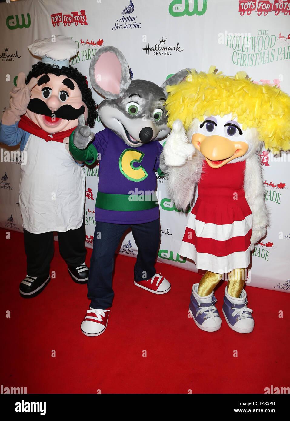 Chuck E Cheese Christmas.2015 Hollywood Christmas Parade Featuring Chuck E Cheese
