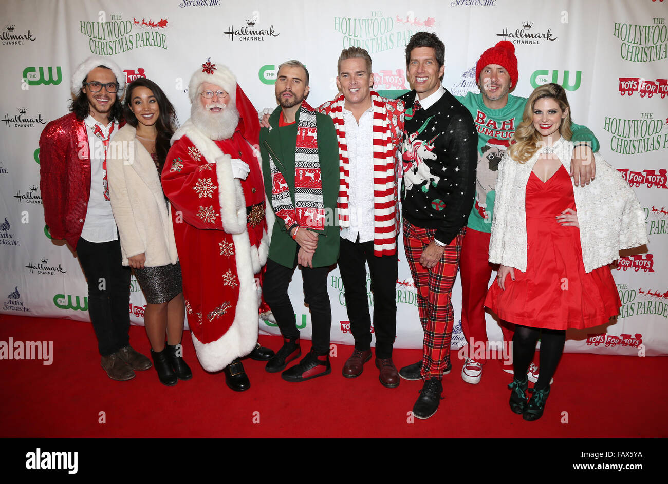 The Christmas Parade Hallmark.2015 Hollywood Christmas Parade Featuring Alex Kinsey Sierra Stock
