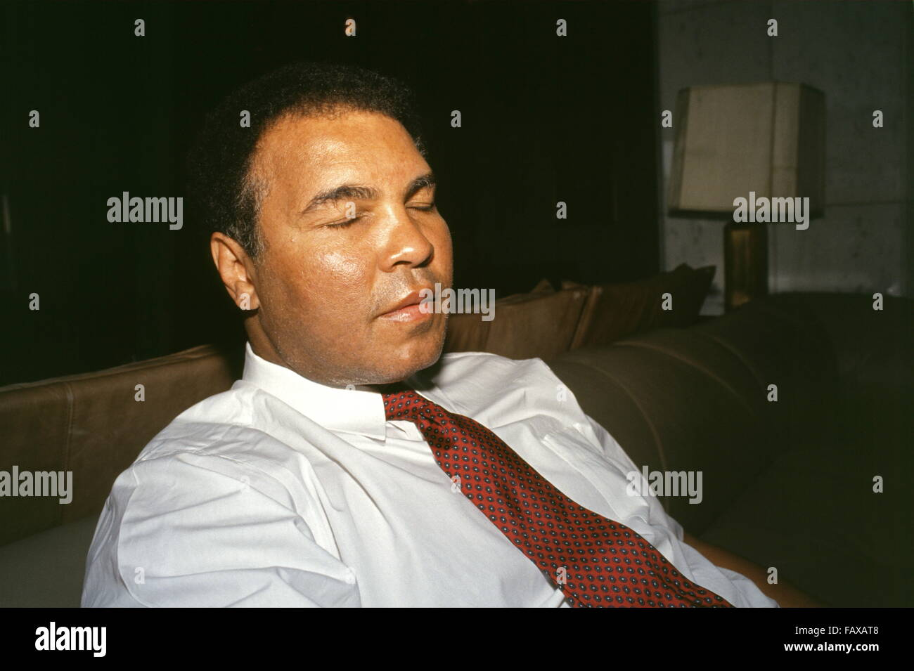 World heavyweight boxing champion Muhammad Ali at the Rashid Hotel in Baghdad, where he is trying to win release - Stock Image