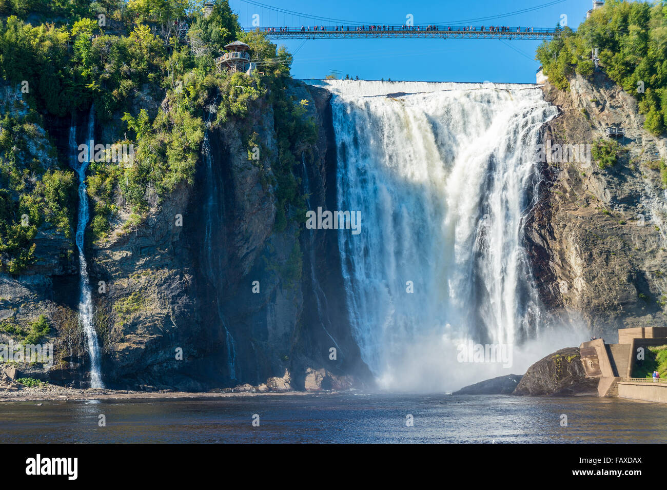 Montmorency Falls near Quebec City, Canada, in September 2015 - Stock Image