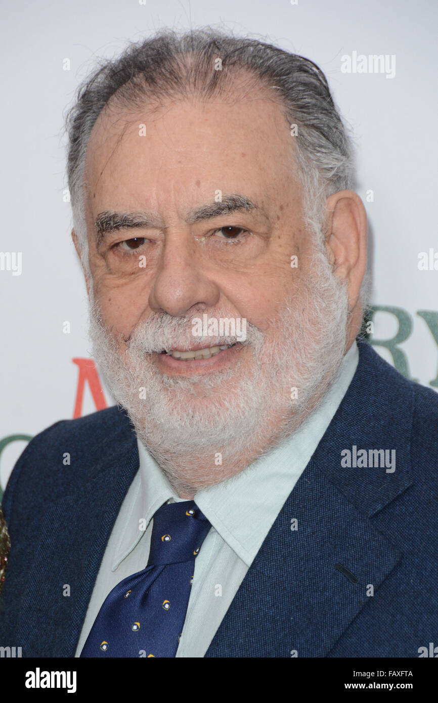 A Very Murray Christmas New York Premiere - Red Carpet Arrivals  Featuring: Francis Ford Coppola Where: New York, - Stock Image