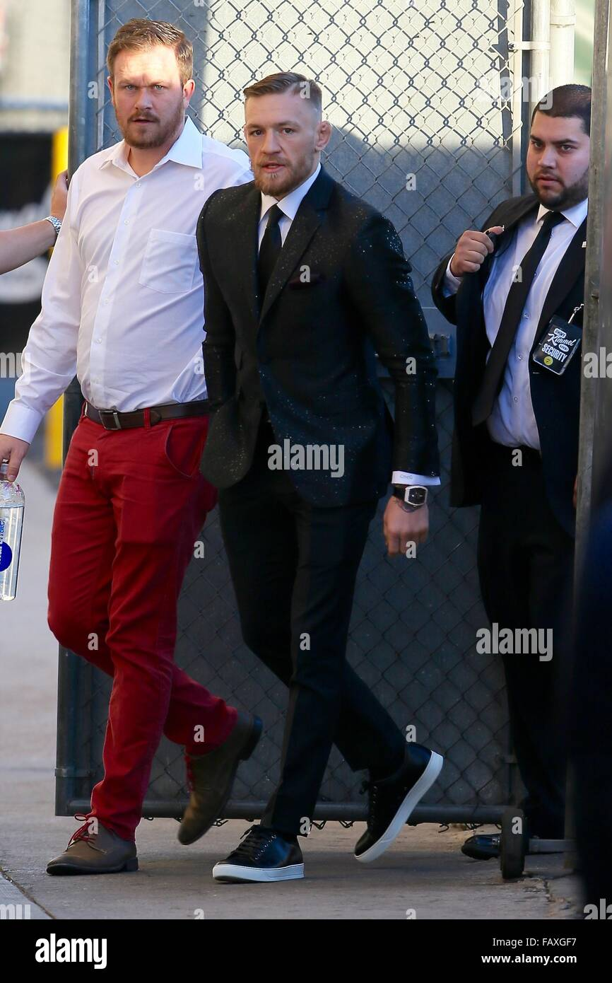 Conor McGregor seen arriving at the ABC studios for Jimmy