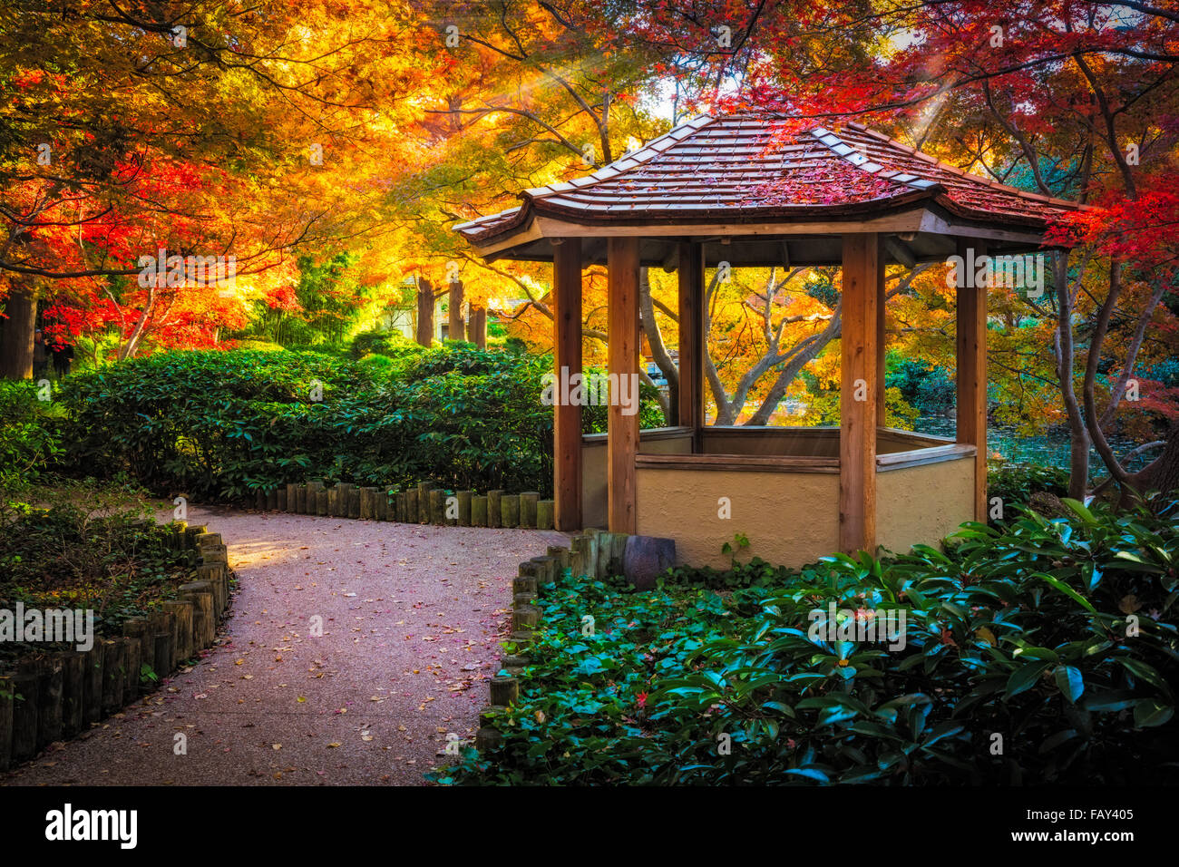 The Fort Worth Japanese Garden Is A 7 5 Acre Japanese Garden In The Stock Photo Alamy