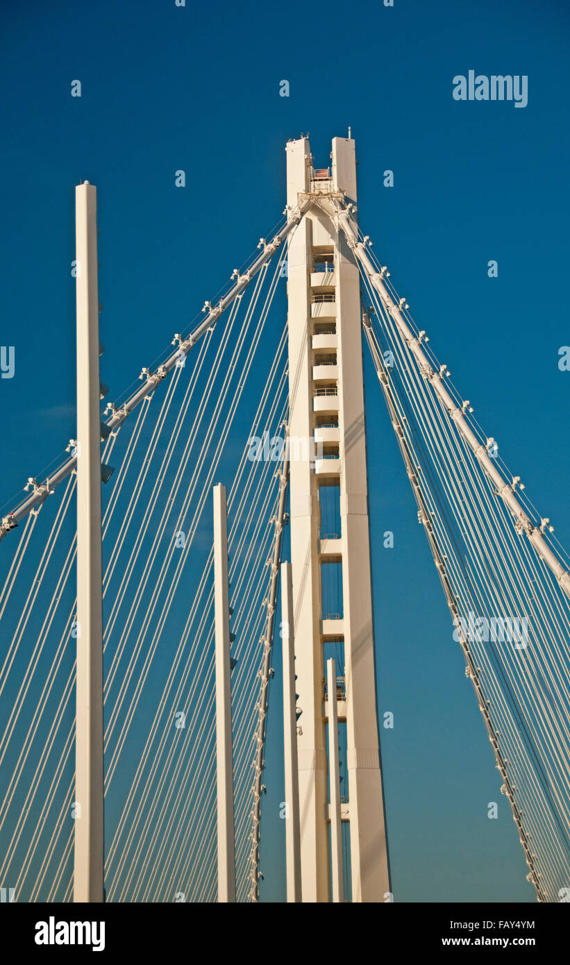 The Eastern span of the San Francisco-Oakland Bay Bridge, named the Willie Brown span - Stock Image