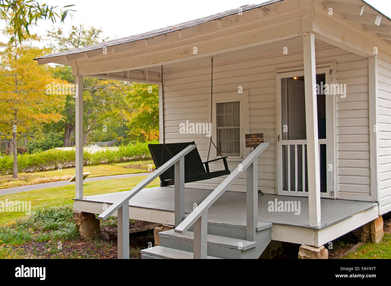Elvis Presley's birthplace house in Tupelo, Mississippi - Stock Image