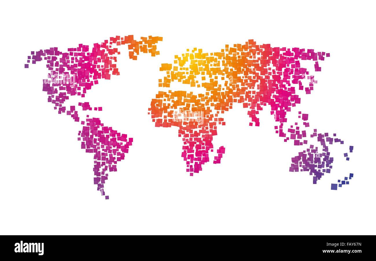 World map squares color gradient stock vector art illustration world map squares color gradient gumiabroncs Choice Image