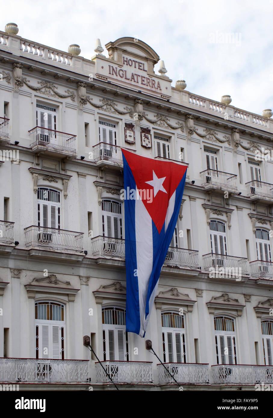 Hotel Inglaterra, Havana, Cuba - Stock Image