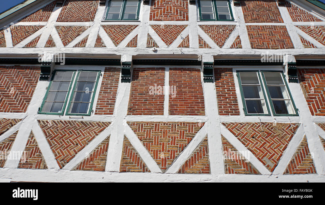 old german houses in niedersachen - Stock Image