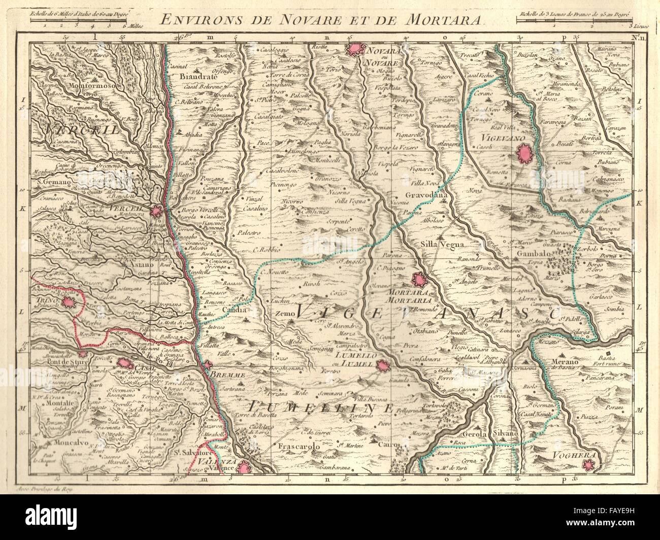 Novara Italy Map.Novara Mortara Vigevano Voghera Valenza Monferrato Italy Stock