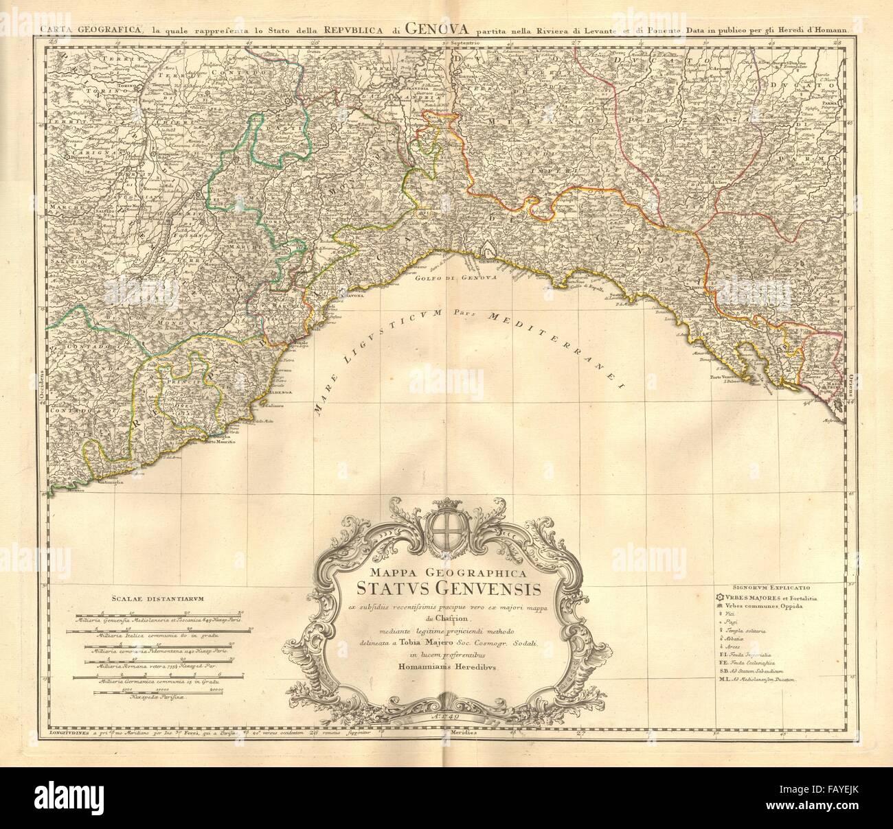 Mappa Geographica Status Genuensis Republic Of Genoa Liguria