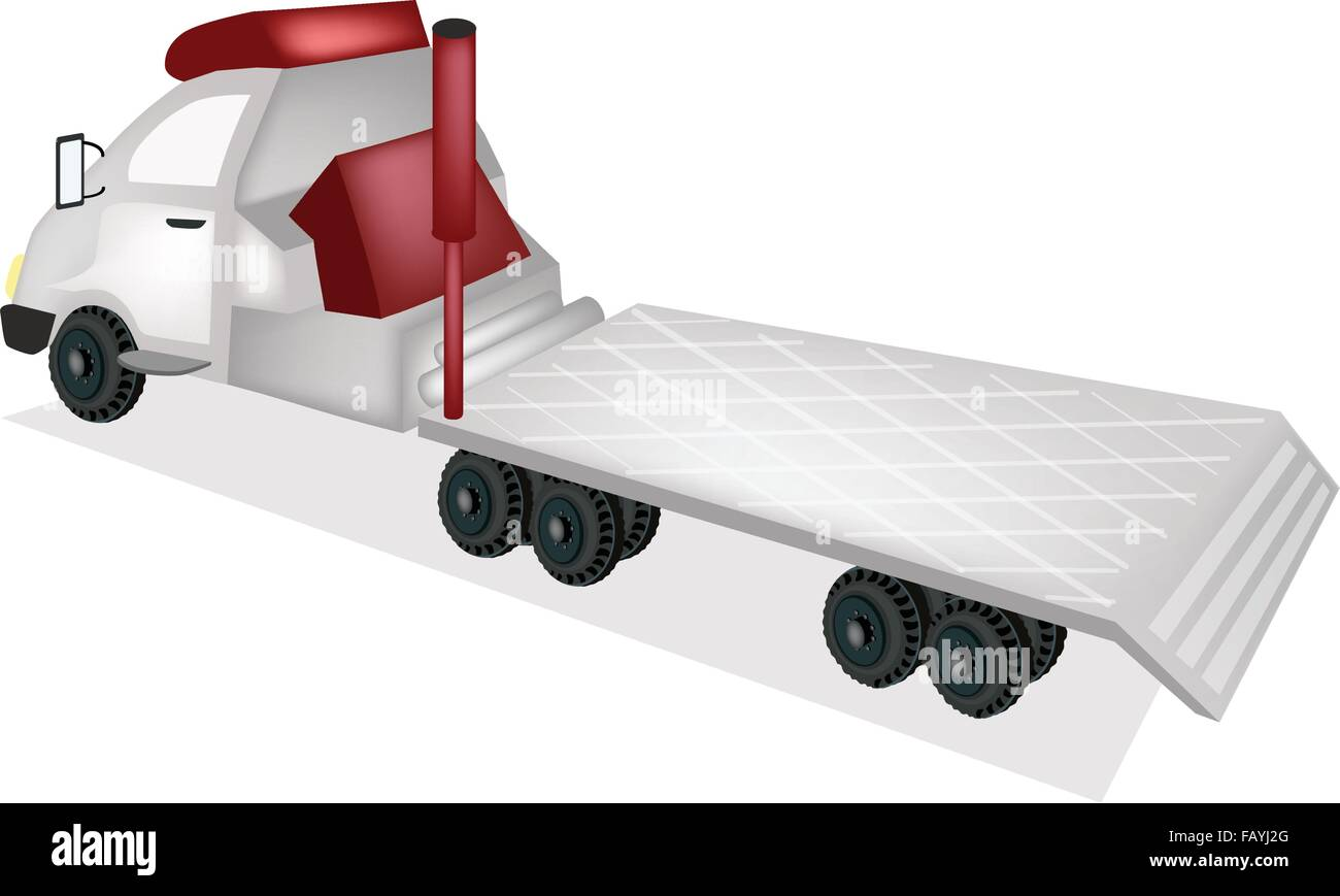 A Flatbed Truck Tractor Trailer Or Flatbed Articulated Lorry For Stock Vector Image Art Alamy