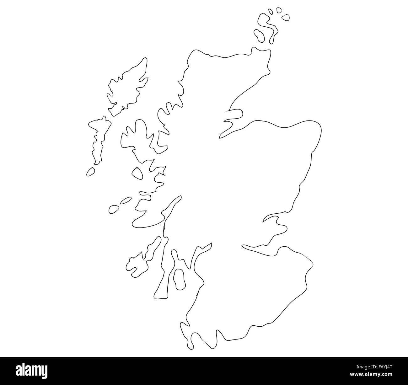 Scotland map on a white background - Stock Image