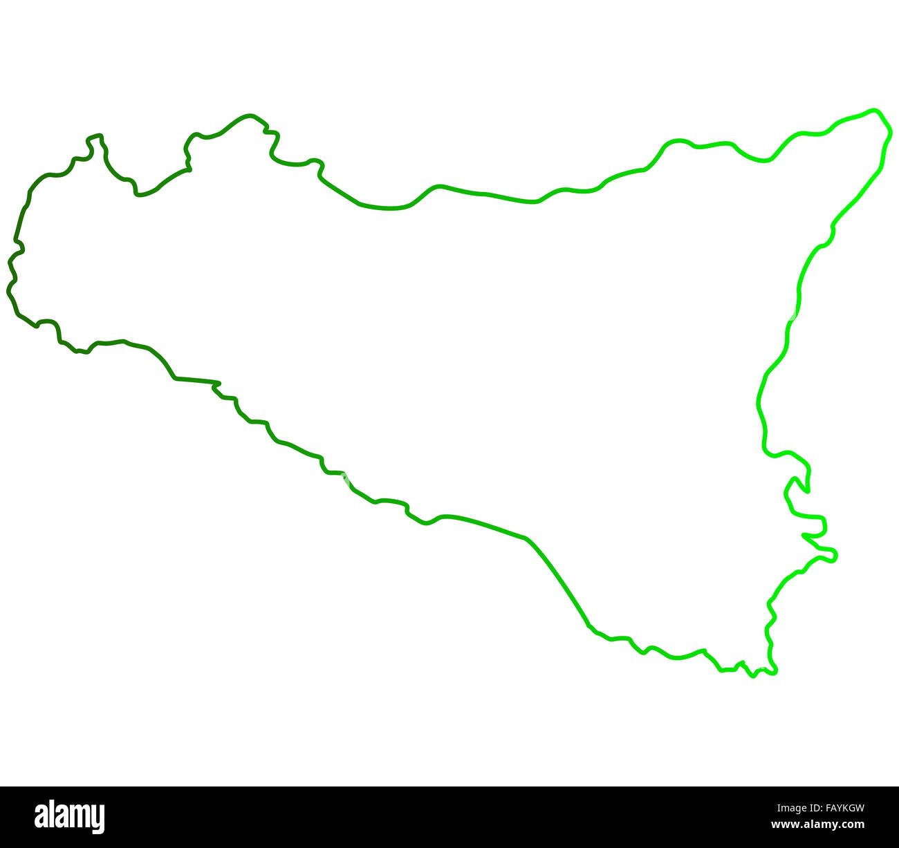 Sicily map on a white background Stock Photo: 92806473 - Alamy