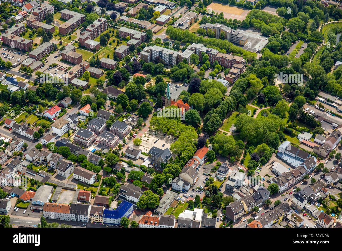 Aerial view, Holzwickede, Ruhr area, North Rhine-Westphalia, Germany, Europe, Aerial view, birds-eyes view, aerial - Stock Image