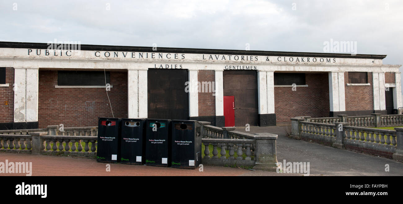 Public Conveniences, Lavatories and Cloakrooms at Barry Island, Vale of Glamorgan, South Wales, UK.. - Stock Image
