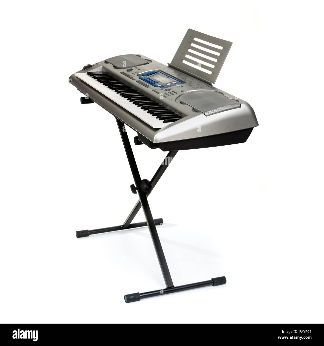 Casio WK-3000 electronic 76-key music keyboard from 2004 - Stock Image