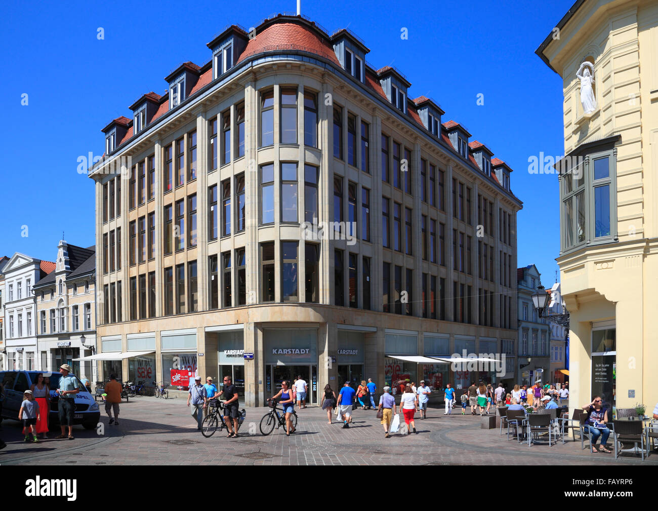 Karstadt warehouse, Wismar, Baltic Sea, Mecklenburg Western Pomerania, Germany, Europe - Stock Image