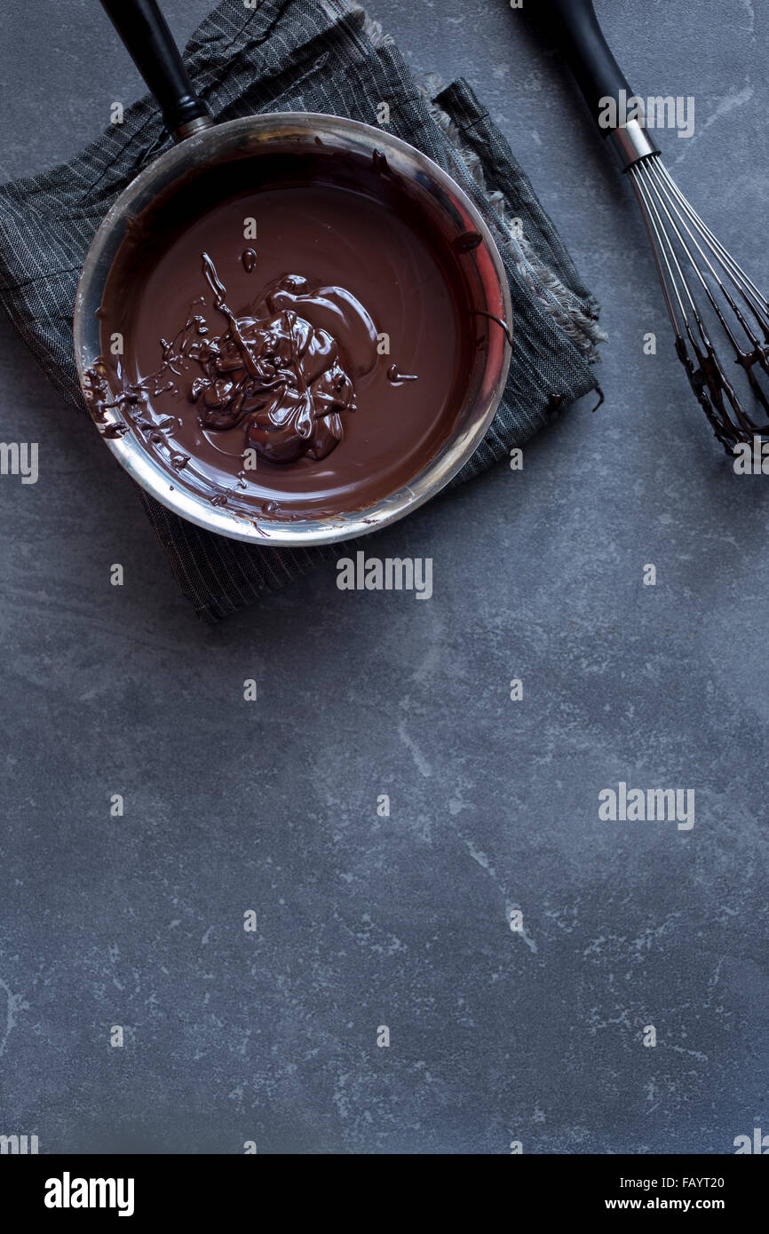 Melted Chocolate - Stock Image