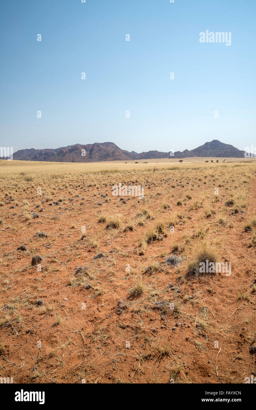 this is a landscape image of Naukluft park in Namibia is near Sossusvlei. this is a desert region and sparsely populated. - Stock Image