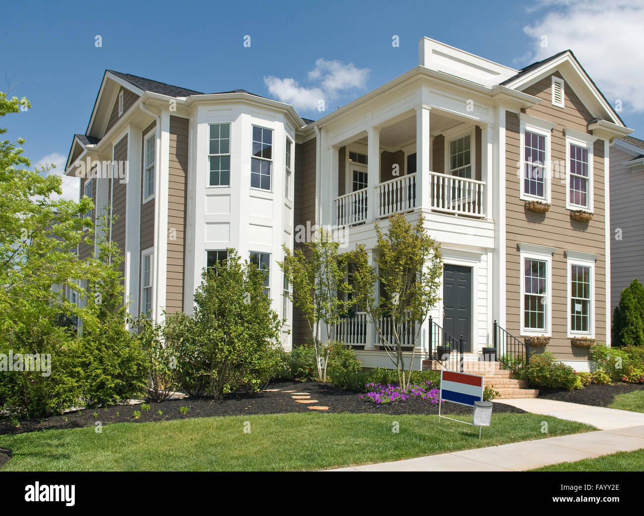 New Two Story Luxury Home - Stock Image
