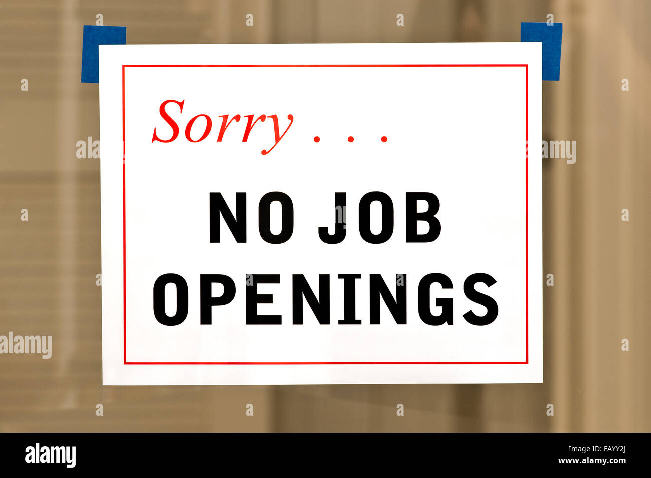 No Job Openings Stock Photo