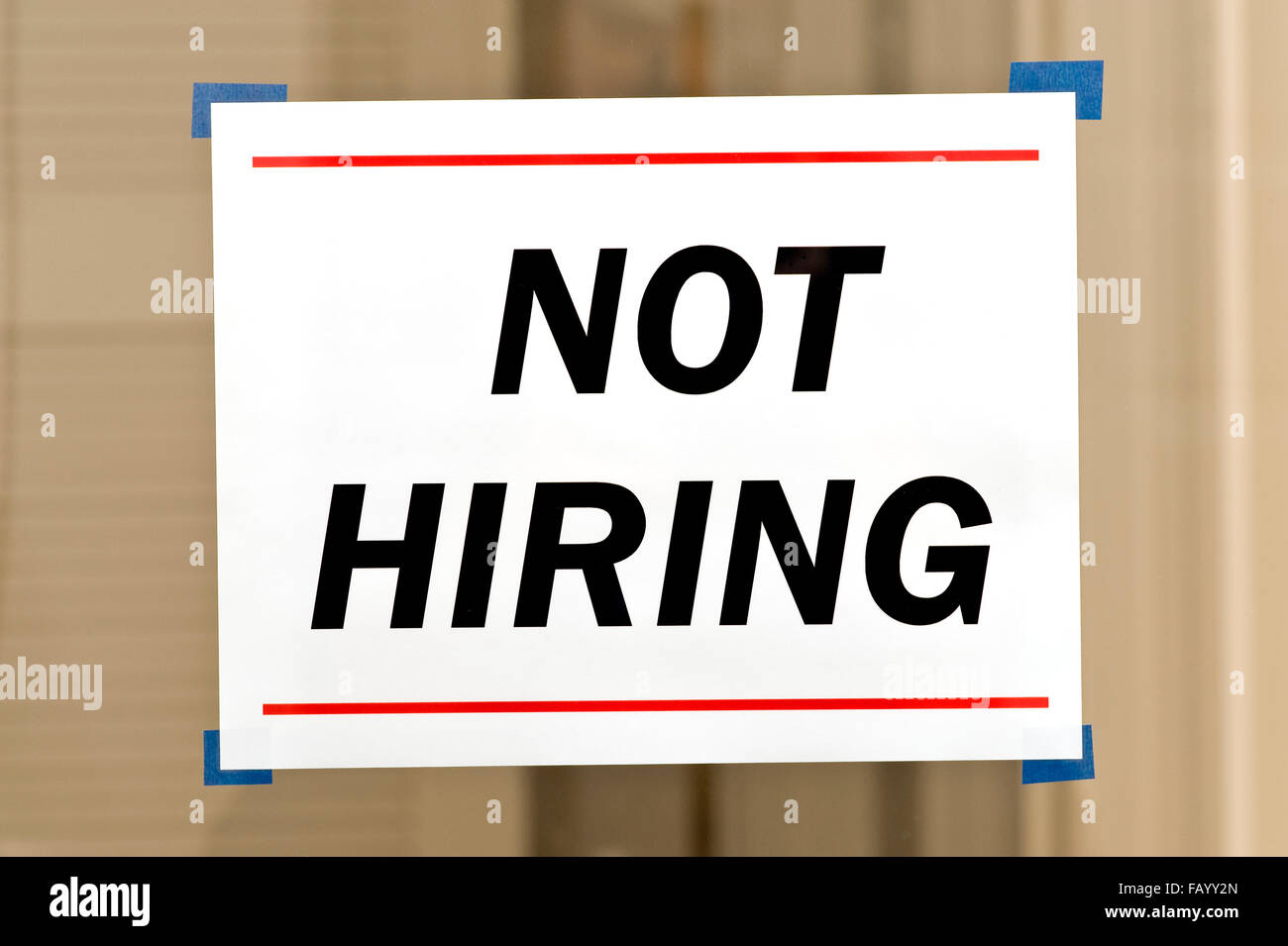 Not Hiring Sign Stock Photo