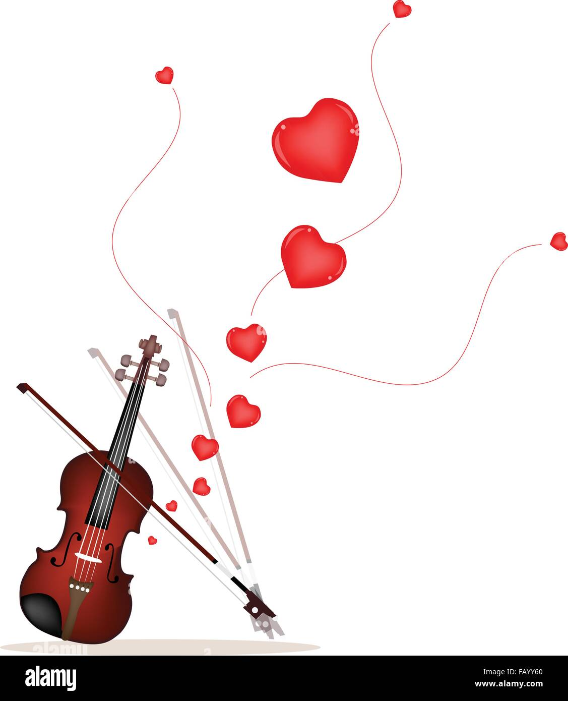 Love Concept, Beautiful Violin Playing A Romantic Love Song