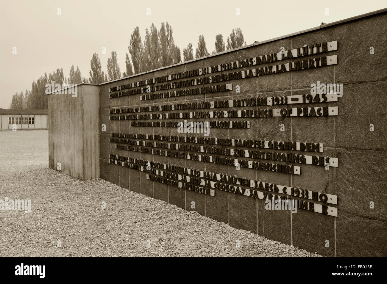 KZ-Gedenkstatte Dachau (Dachau Concentration Camp Memorial Site), Dachau, Oberbayern (Upper Bavaria), Bayern (Bavaria), Stock Photo
