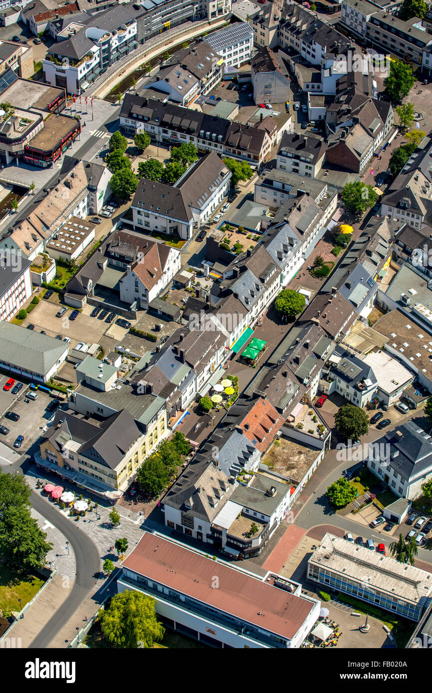 Aerial view, the Ruhr, Ruhr area, city views from Meschede, Sauerland, North Rhine-Westphalia, Germany, Europe, - Stock Image