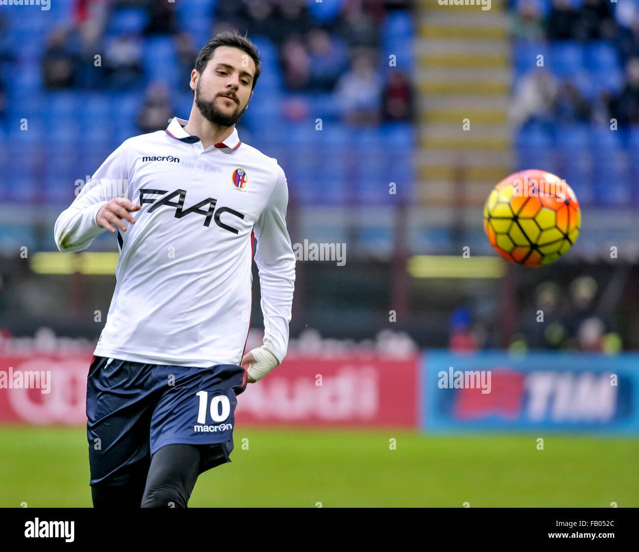 Milan Italy 06th Jan 2016 Mattia Destro In Action During The Stock Photo Alamy