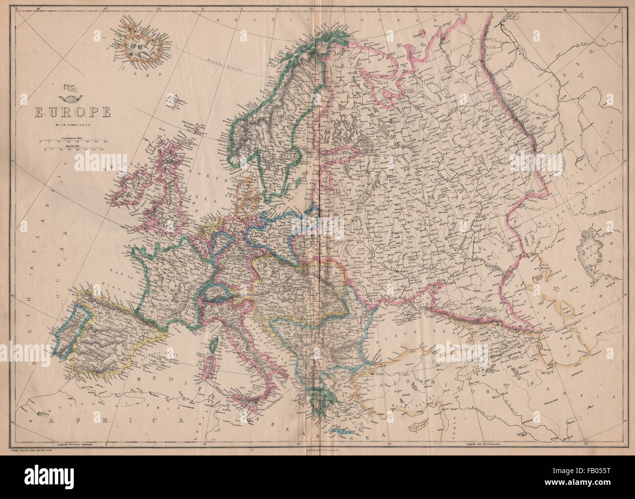Europe Shows Prussia British Ionian Islands Ottoman Empire Lowry