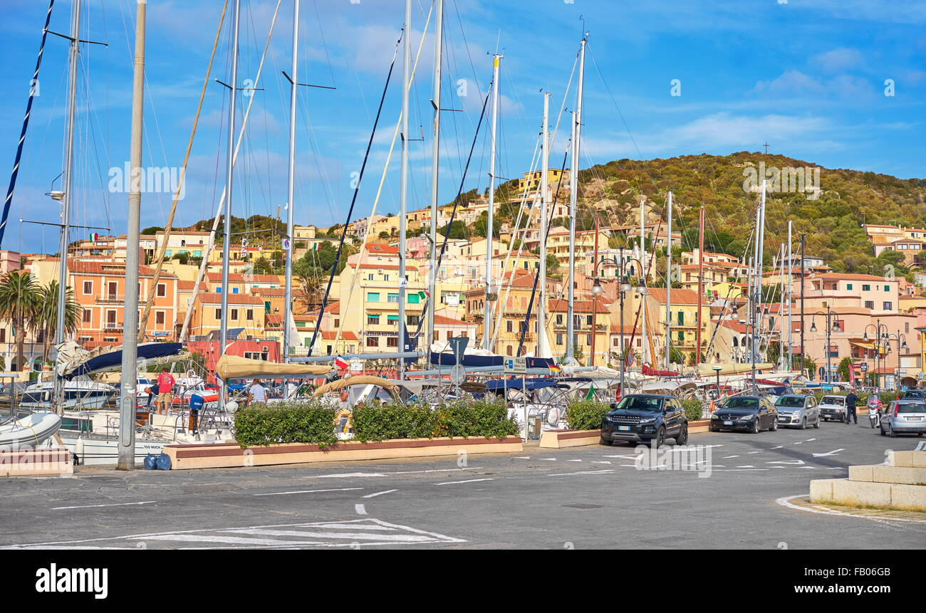 La Maddalena Island, view of the town and harbor,  Sardinia, Italy - Stock Image