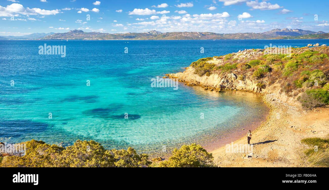 Cala degli Inglesi, Caprera Island, La Maddalena Archipelago National Park, Sardinia, Italy - Stock Image