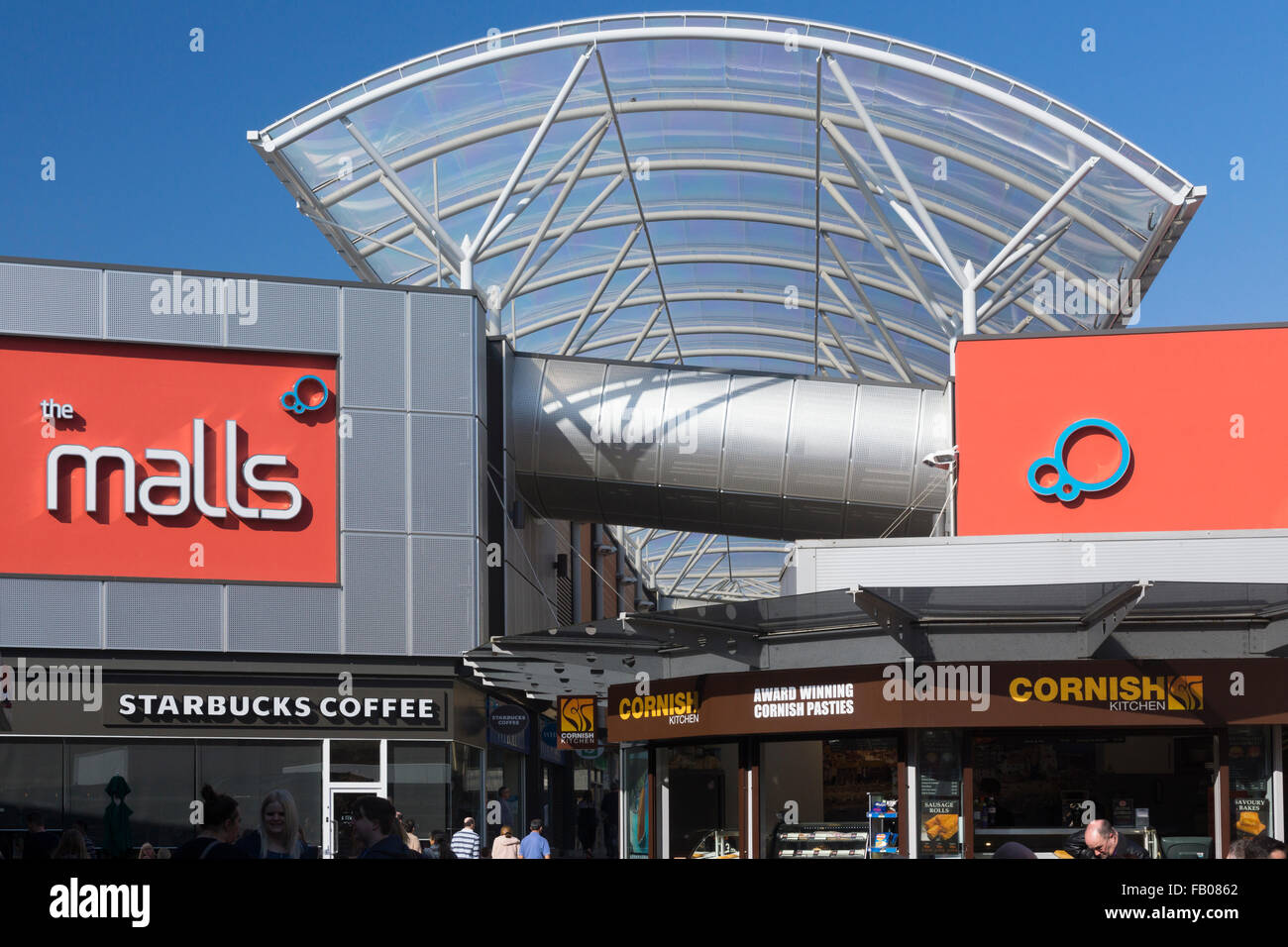 The recently refurbished 'The Malls' in Basingstoke - Stock Image