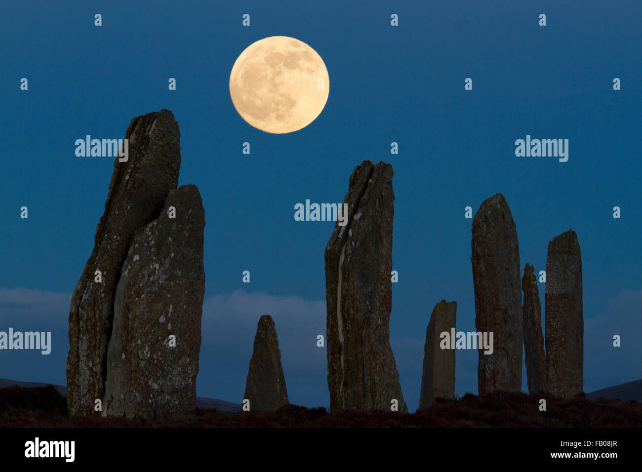 Ring of Brodgar, Orkney isles - Stock Image