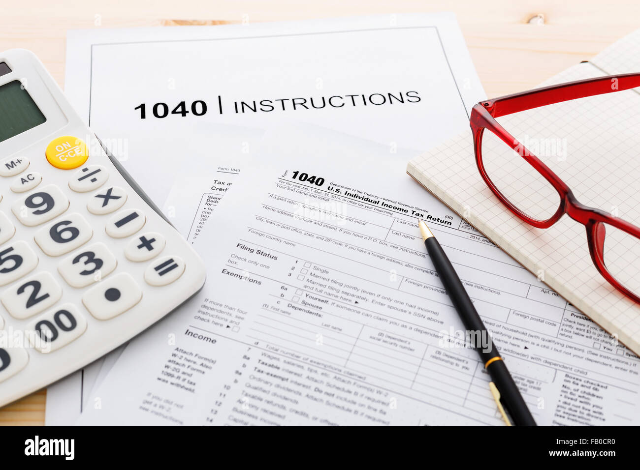 Income Tax Income Return Form And Instruction With Calculator And