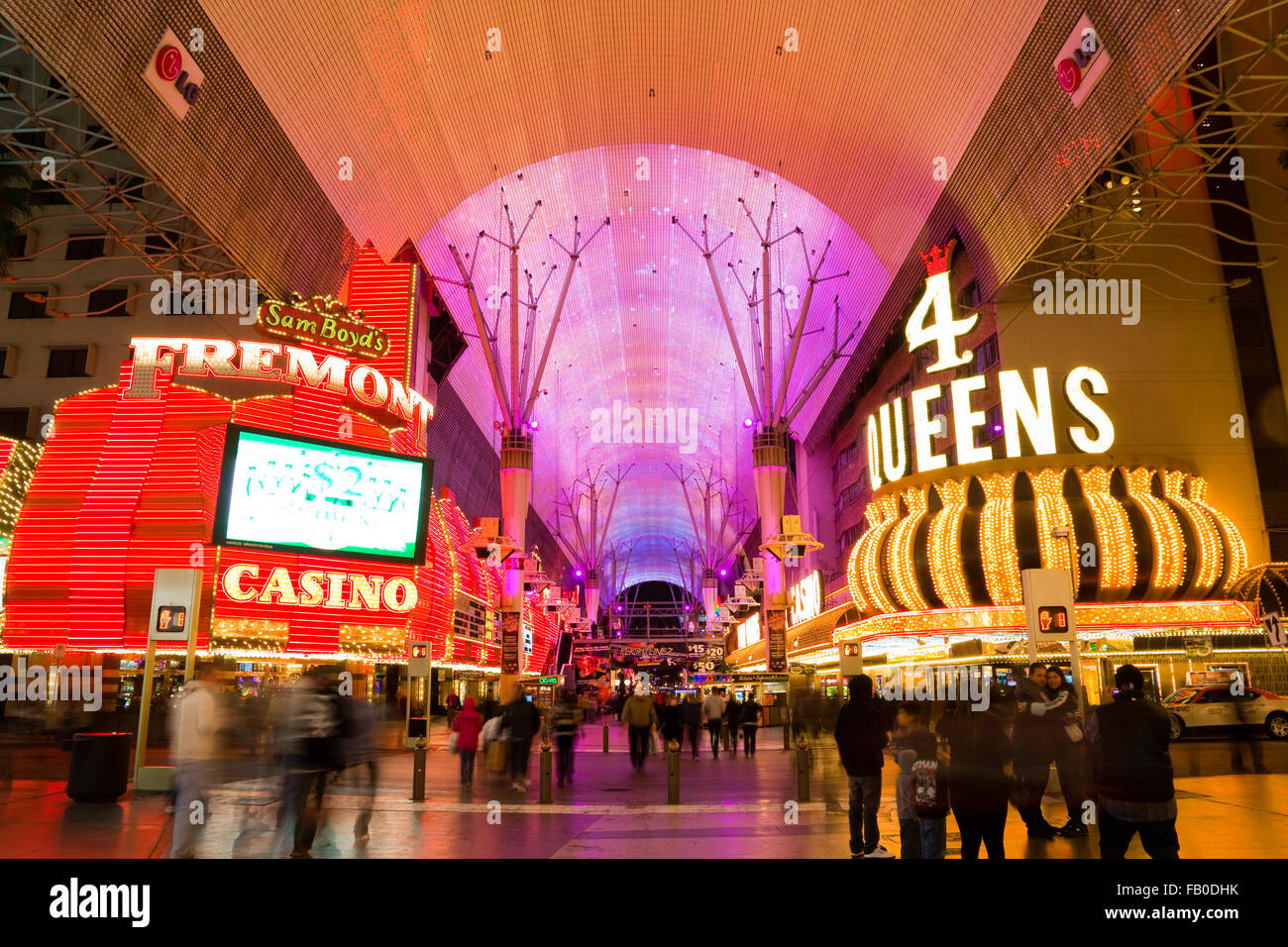 Las Vegas at night - Stock Image