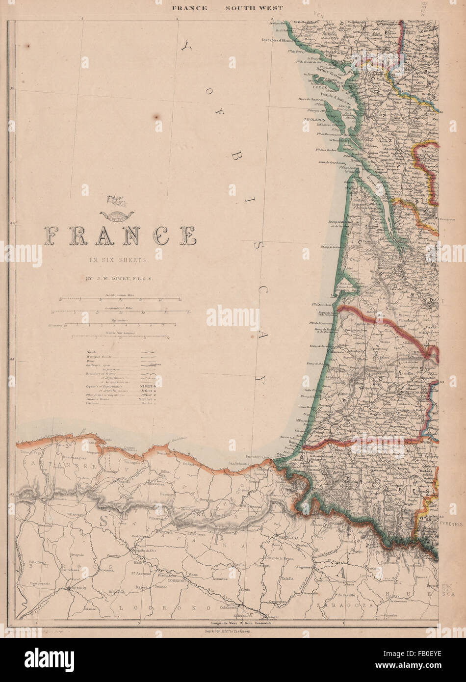 Map Of West Coast Of France.Coast Of France Map Stock Photos Coast Of France Map Stock Images