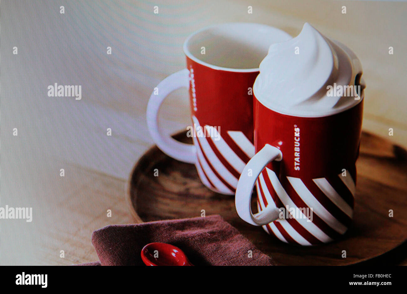 Starbucks - Coffeehouse chain - Stock Image