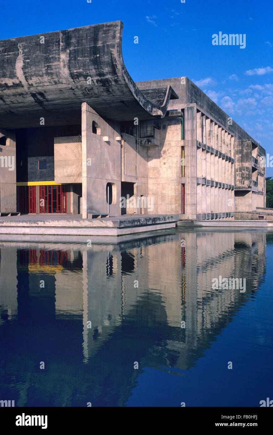 The 'Palace of Assembly' Parliament Building or Legislative Assembly (1953) reflected in ornamental Pool - Stock Image